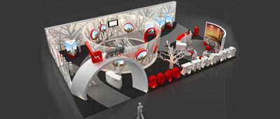 昆明房交会-万达-面积600㎡ 设计理念:简约大气,奢华内涵,采用构架式结构,,再搭配灯具灯光,突出一种中式、融合的时尚品味。